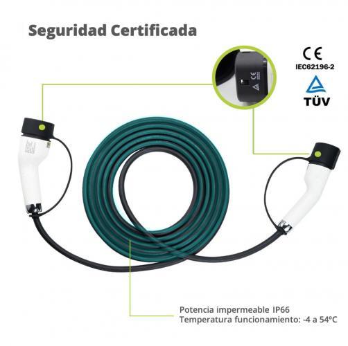 cable carga 5m de tipo 2 a tipo 2 cable carga coche electrico tipo 2 2 moveco